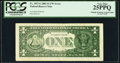 Multiple Printings on Back Error Fr. 1927-G $1 2001 Federal Reserve Note. PCGS Very Fine 25PPQ