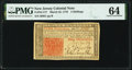Colonial Notes:New Jersey, New Jersey March 25, 1776 3s PMG Choice Uncirculated 64.. ...