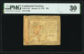 Colonial Notes:Continental Congress Issues, Continental Currency January 14, 1779 $55 PMG Very Fine 30.. ...