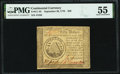 Colonial Notes:Continental Congress Issues, Continental Currency September 26, 1778 $50 PMG About Uncirculated 55.. ...