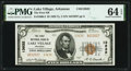 Lake Village, AR - $5 1929 Ty. 2 The First National Bank Ch. # 13632 PMG Choice Uncirculated 64 EPQ
