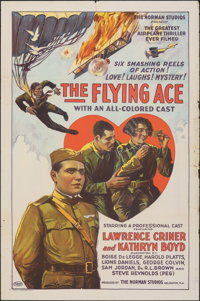 """The Flying Ace (Norman, 1926). Folded, Fine-. One Sheet (27"""" X 41""""). Black Films"""
