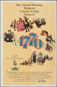"""1776 & Others (Columbia, 1972). Folded, Overall: Fine+. One Sheets (36) (27"""" X 41""""). Musical. ... (Total:..."""