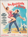 """Movie Posters:Academy Award Winners, An American in Paris (MGM, R-1963). Very Fine- on Linen. French Grande (47.5"""" X 63"""") Roger Soubie Artwork. Academy Award Win..."""