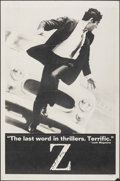 """Movie Posters:Foreign, Z (Cinema 5, 1969). Folded, Very Fine-. One Sheet (27"""" X 41"""") Black Style. Foreign.. ..."""