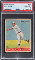 Baseball Cards:Singles (1930-1939), 1933 Goudey Bill Terry #20 PSA NM-MT 8 - Only One Higher. ...