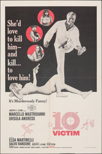"""The 10th Victim & Other Lot (Embassy, 1965). Folded, Very Fine-. One Sheets (2) (27"""" X 41""""). Science Ficti..."""