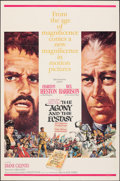 """Movie Posters:Drama, The Agony and the Ecstasy & Other Lot (20th Century Fox, 1965). Folded, Overall: Very Fine-. One Sheets (3) (27"""" X 41""""). How... (Total: 3 Items)"""