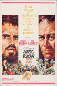 """The Agony and the Ecstasy & Other Lot (20th Century Fox, 1965). Folded, Overall: Very Fine-. One Sheets (3) (27""""..."""