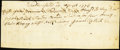 Colonial Notes:Connecticut, Weathersfield, (CT) - Handwritten Payment Certificate April 14, 1776 Very Fine.. ...