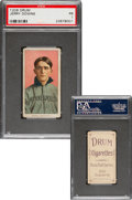 Baseball Cards:Singles (Pre-1930), 1909-11 T206 Drum Jerry Downs PSA Poor 1 - The Only Graded Example For Brand! ...