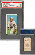 Baseball Cards:Singles (Pre-1930), 1909-11 T206 Hindu-Brown Larry Doyle (Throwing) PSA EX+ 5.5 - Pop Two, None Higher For Brand. ...