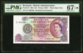 Bermuda Bermuda Government 10 Pounds 28.7.1964 Pick 22 PMG Superb Gem Unc 67 EPQ★