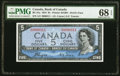 "World Currency, Canada Bank of Canada $5 1954 Pick 68a BC-31a ""Devil's Face"" PMG Superb Gem Unc 68 EPQ.. ..."