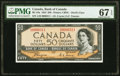 "World Currency, Canada Bank of Canada $50 1954 Pick 71a BC-34a ""Devil's Face"" PMG Superb Gem Unc 67 EPQ.. ..."