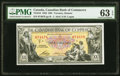 World Currency, Canada Toronto, ON- Canadian Bank of Commerce $20 2.1.1935 Pick S972 Ch.# 75-18-10 PMG Choice Uncirculated 63 EPQ.. ...