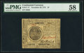 Continental Currency November 29, 1775 $7 PMG Choice About Unc 58