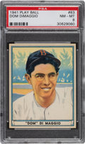 Baseball Cards:Singles (1940-1949), 1941 Play Ball Dom DiMaggio #63 PSA NM-MT 8 - Only Five Higher. ...