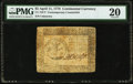 Continental Currency April 11, 1778 $5 Newman 1.1 Contemporary Counterfeit PMG Very Fine 20