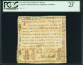 "Colonial Notes:Georgia, Province of Georgia Lighthouse Certificate 1769 £1 Pound Printed ""9"" in Date PCGS Very Fine 25.. ..."