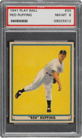 Baseball Cards:Singles (1940-1949), 1941 Play Ball Red Ruffing #20 PSA NM-MT 8....