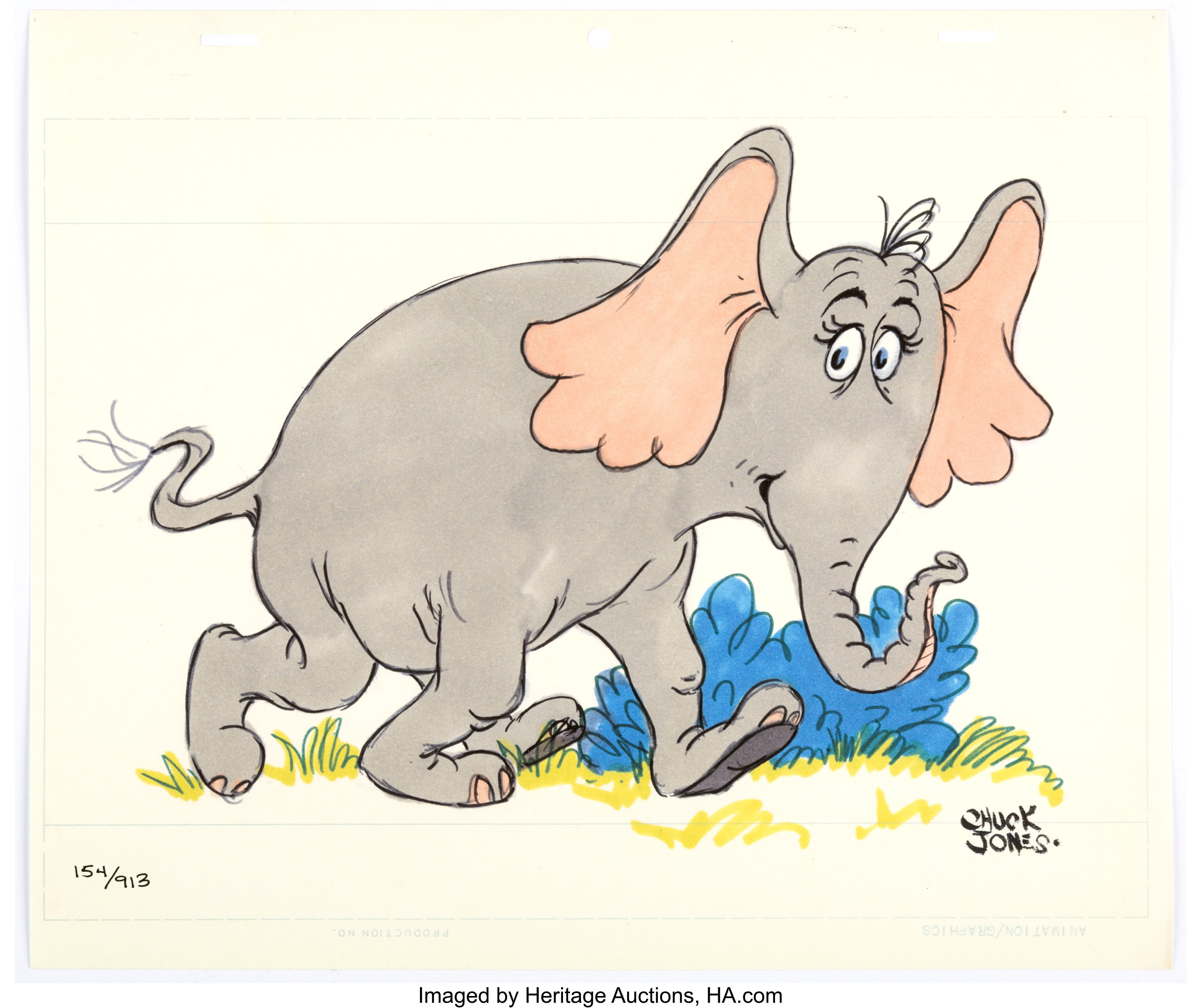 Horton The Elephant Limited Edition Print 154 913 Mgm Chuck Lot 11696 Heritage Auctions