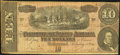 Confederate Notes:1864 Issues, T68 $10 1864 PF-57 Cr. UNL Fine-Very Fine.. ...