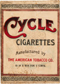 Baseball Cards:Unopened Packs/Display Boxes, Extremely Rare 1910 Cycle Cigarettes 10-Pack Retail Carton. ...