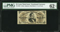 Fractional Currency:Third Issue, Fr. 1292 25¢ Third Issue PMG Uncirculated 62 EPQ.. ...