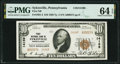 National Bank Notes:Pennsylvania, Sykesville, PA - $10 1929 Ty. 2 First National Bank Ch. # 14169 PMG Choice Uncirculated 64 EPQ.. ...