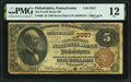 National Bank Notes:Pennsylvania, Philadelphia, PA - $5 1882 Brown Back Fr. 469 The Fourth Street National Bank Ch. # 3557 PMG Fine 12.. ...