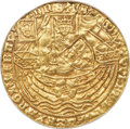 Netherlands, Netherlands: Gorinchem. City gold Imitative Rose Noble ND (1583-1591) AU55 NGC,...