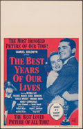 "Movie Posters:Academy Award Winners, The Best Years of Our Lives (RKO, R-1954). Very Fine+. Window Card (14"" X 22""). Academy Award Winners.. ..."