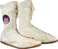 """Boxing Collectibles:Memorabilia, 1975 Muhammad Ali Fight Worn Shoes from Frazier III Bout, """"The Thrilla in Manila.""""..."""