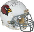 Football Collectibles:Helmets, 2011 Patrick Peterson Game Worn & Signed Arizona Cardinals Helmet Photomatched to 14 out of 16 Games - Rookie Helmet!...