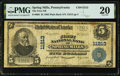 National Bank Notes:Pennsylvania, Spring Mills, PA - $5 1902 Plain Back Fr. 606 The First National Bank Ch. # 11213 PMG Very Fine 20.. ...