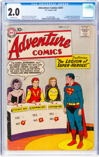 Adventure Comics #247 (DC, 1958) CGC GD 2.0 Off-white pages