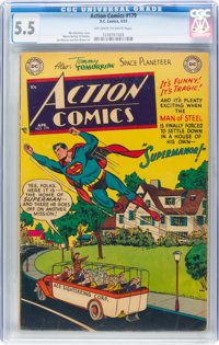 Action Comics #179 (DC, 1953) CGC FN- 5.5 Off-white to white pages