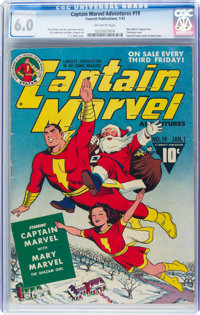Captain Marvel Adventures #19 (Fawcett Publications, 1943) CGC FN 6.0 Off-white pages