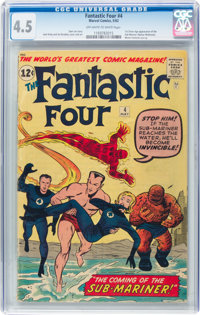 Fantastic Four #4 (Marvel, 1962) CGC VG+ 4.5 Off-white to white pages