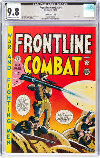 Frontline Combat #4 Gaines File Copy 7/10 (EC, 1952) CGC NM/MT 9.8 Off-white to white pages