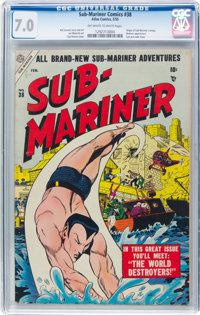 Sub-Mariner Comics #38 (Timely, 1955) CGC FN/VF 7.0 Off-white to white pages