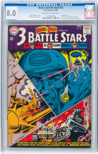 The Brave and the Bold #52 Three Battle Stars (DC, 1964) CGC VF 8.0 Cream to off-white pages