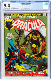 Tomb of Dracula #6 (Marvel, 1973) CGC NM 9.4 Off-white to white pages