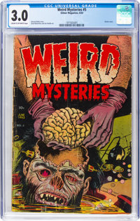 Weird Mysteries #5 (Gillmor, 1953) CGC GD/VG 3.0 Cream to off-white pages