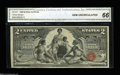 Large Size:Silver Certificates, Fr. 247 $2 1896 Silver Certificate CGA Gem Uncirculated 66.