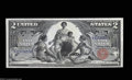 Large Size:Silver Certificates, Fr. 248 $2 1896 Silver Certificate Very Choice New. This ...