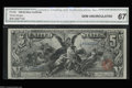 Large Size:Silver Certificates, Fr. 268 $5 1896 Silver Certificate CGA Gem Uncirculated 67.