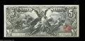 Large Size:Silver Certificates, Fr. 268 $5 1896 Silver Certificate Very Choice New. A ...