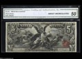Large Size:Silver Certificates, Fr. 268 $5 1896 Silver Certificate CGA About Uncirculated 50....